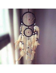 Afferra Il Sogno Tradizionale In Bianco E Nero Con Piume 2