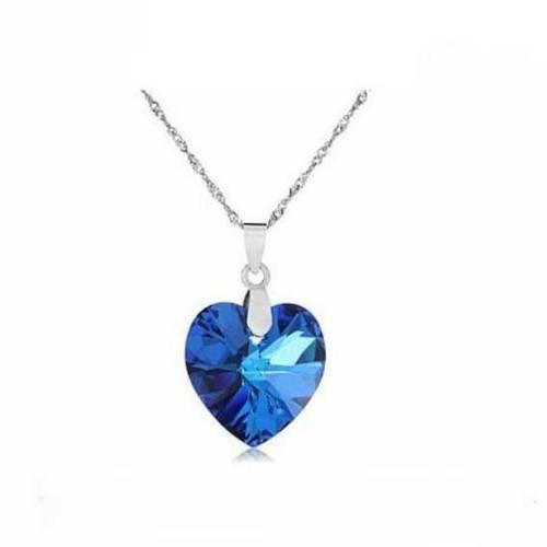 Collar - Corazón del Océano - Titanic - Plata/Azul