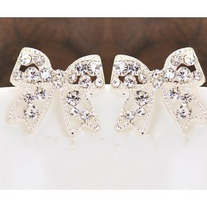 Earrings Bow Ties Color Silver