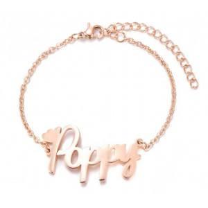 Bracelet Personnalisé Prénom Doré Or Rose