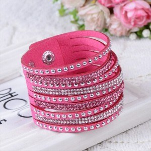 Bracelet Simply Cuir Rose
