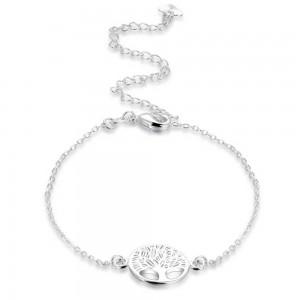 Kæden af Ankel - Træ-Of-Life - Design - Sølv