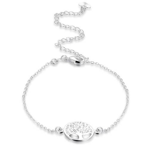 Kette Knöchel - Baum Des Lebens - Design - Silber