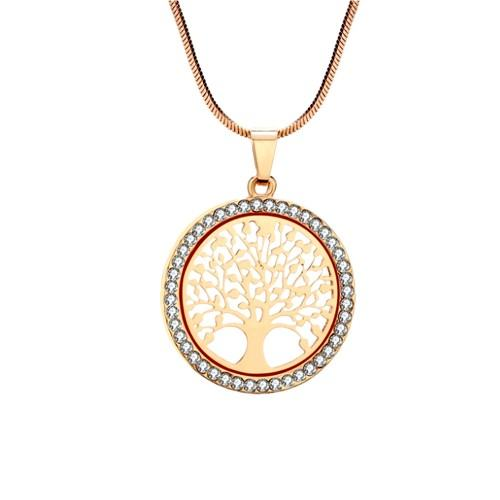 Halskette - Baum des Lebens - Premium V3 - Gold
