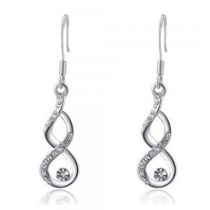 Earrings - Infinity - Premium - V3 - Silver