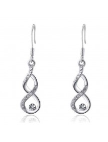 Earrings - Infinity - Premium - V3 - Silver