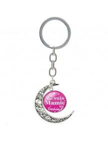 Porte-Clé Lune - Cadeau Grand Mère - Mamie Qui Déchire V2