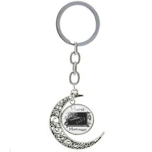 Porte-Clé Lune - Cadeau Maitresse - ABC Merci Maitresse