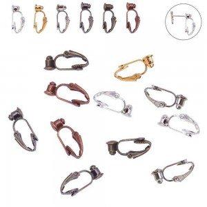 Schede di orecchini - Clip - set di 6 - Multicolore