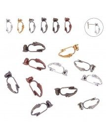 Adapters earrings - Clips - set of 6 - Multicolor
