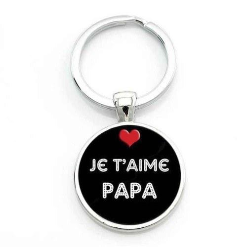 Porte-Clé - Rond - Cadeau Père - Je T'aime Papa