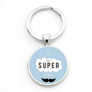 Door-Key - Round - Gift Dad - Super Dad
