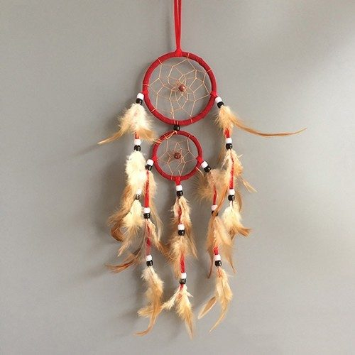 Grabs Dream Traditional Red with White Feathers