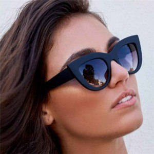 Sunglasses Woman Cat Eye - Cat Eye - Black-2