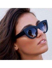 Ochelari De Soare Femei Cat Eye - Ochi De Pisica - Negru-2