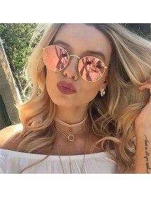Gafas De Sol Mujer - Espejos Rosa - Redondeadas De Color Rosa