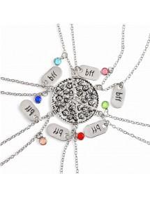 Halskette - BFF-Best Friends - Beste freunde - Lot 6 - Pizza - Silber