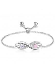 Armband Personlig Infinity Design 2 Namn Silverfärg