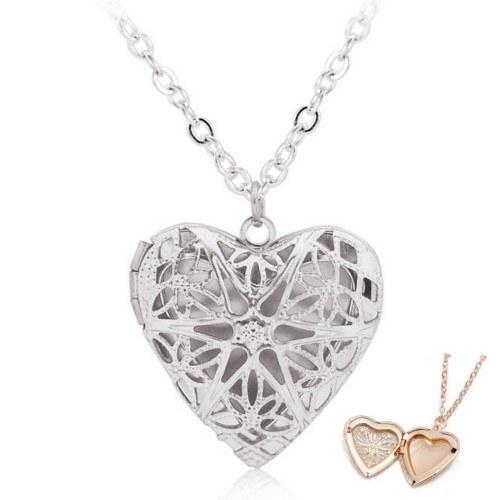 Karoliai - širdies lizdas nuotraukoms - dizainas - sidabras