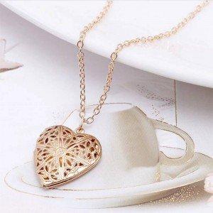 Collana Ciondolo Cuore dell'Immagine - Design - Golden