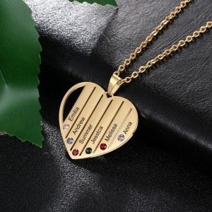 Karoliai užsakymą Širdies Barų 6 Vardus Aukso
