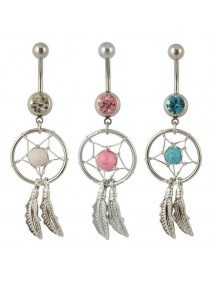 Pack 3 Piercing Belly Button Catcher Dream Silver Pink Blue White