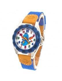 Reloj Niño - Pequeño Dinosaurio Azul