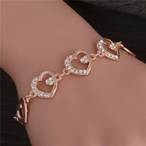 Bracelet Grands Coeurs en Or