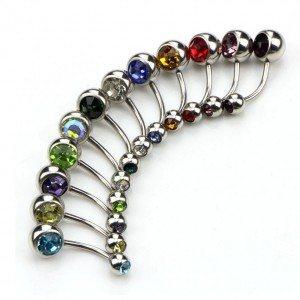 Piercings Nombril Lot de 12 Simply Acier Chirurgical Multicolore