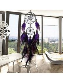 Agarra Sueño Tradicionales De Diseño De 2 Círculos V2 Púrpura