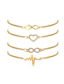 Apyrankė Daug 4 Infinity Širdies Plakimas Aukso