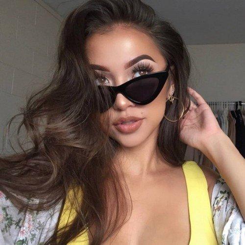 Sonnenbrille Frau Cat Eye V2 Schwarze Katze Augen