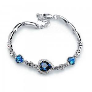 Heart Of The Ocean Titanic Premium Silver och blå armband