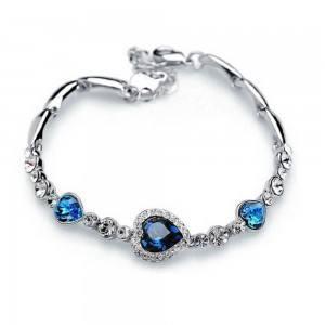 Srce oceana Titanic Premium srebrna i plava narukvica