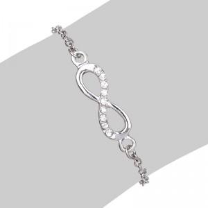 Infinity Armband Einfach Silber