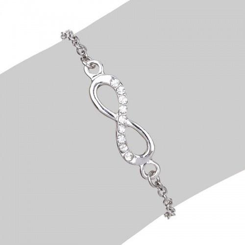 Infinity karkötő egyszerűen ezüst