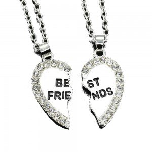 Collier Best Friends Meilleures Amies Argenté