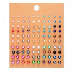 Pendientes de Mujer Lote de 50 pares Multicolor