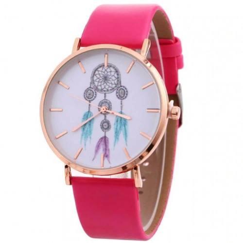 Reloj Mujer Entra Sueño Sueño Blanco ' V3 De Cuero De Imitación De Color Rosa