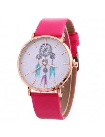 Montre Femme Attrape Rêve White Dream V3  Simili Cuir Rose