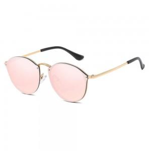 Saulesbrilles Sieviete CateEye Spoguļi Rozā Kaķa Acs