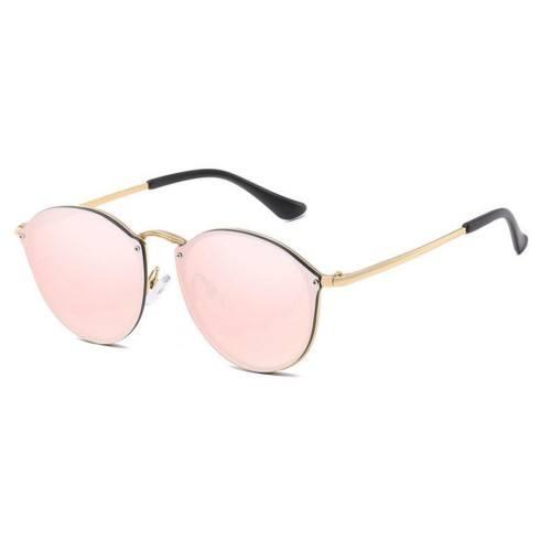 Occhiali da sole Donna CateEye Specchi Rosa Occhio di Gatto