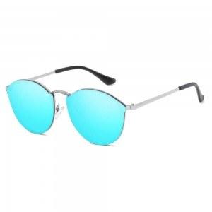 Слънчеви очила Жени CateEye Огледала Синьо котешко Око