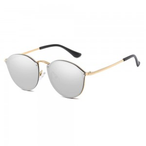 Sunglasses Woman CateEye Mirrors Grey Cat's Eye