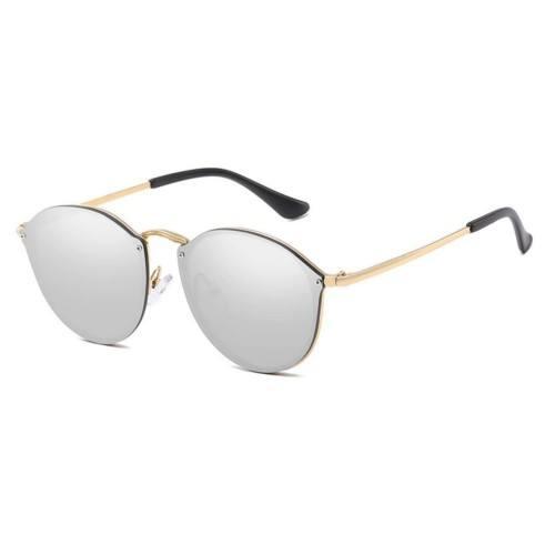 Sonnenbrille Frau CateEye Spiegel Grau katzenauge