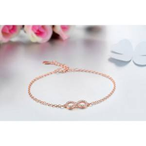 Bracciale Donna Infinity Premium V4 Dorato In Oro Rosa