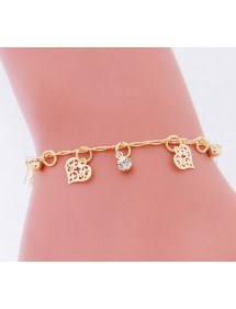 Bracelet Small Hearts in Gold