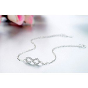 Bracelet Women Infinity Premium V4 Silver