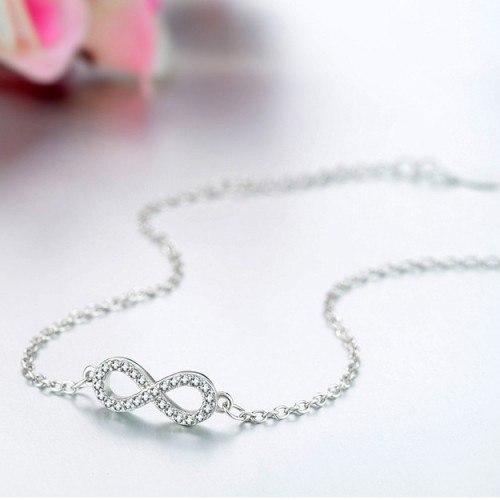 Armband Frau Unendlich Premium V4 Silber