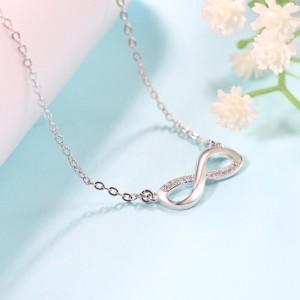 Collar De Mujer De Infinity Premium V4 Plata